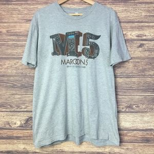 Maroon 5 2015 World Tour Graphic Tee Gray XL